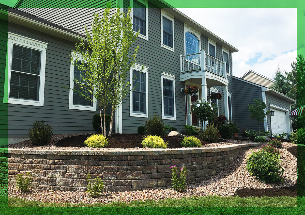 Landscaping design on a residential home in Central New york