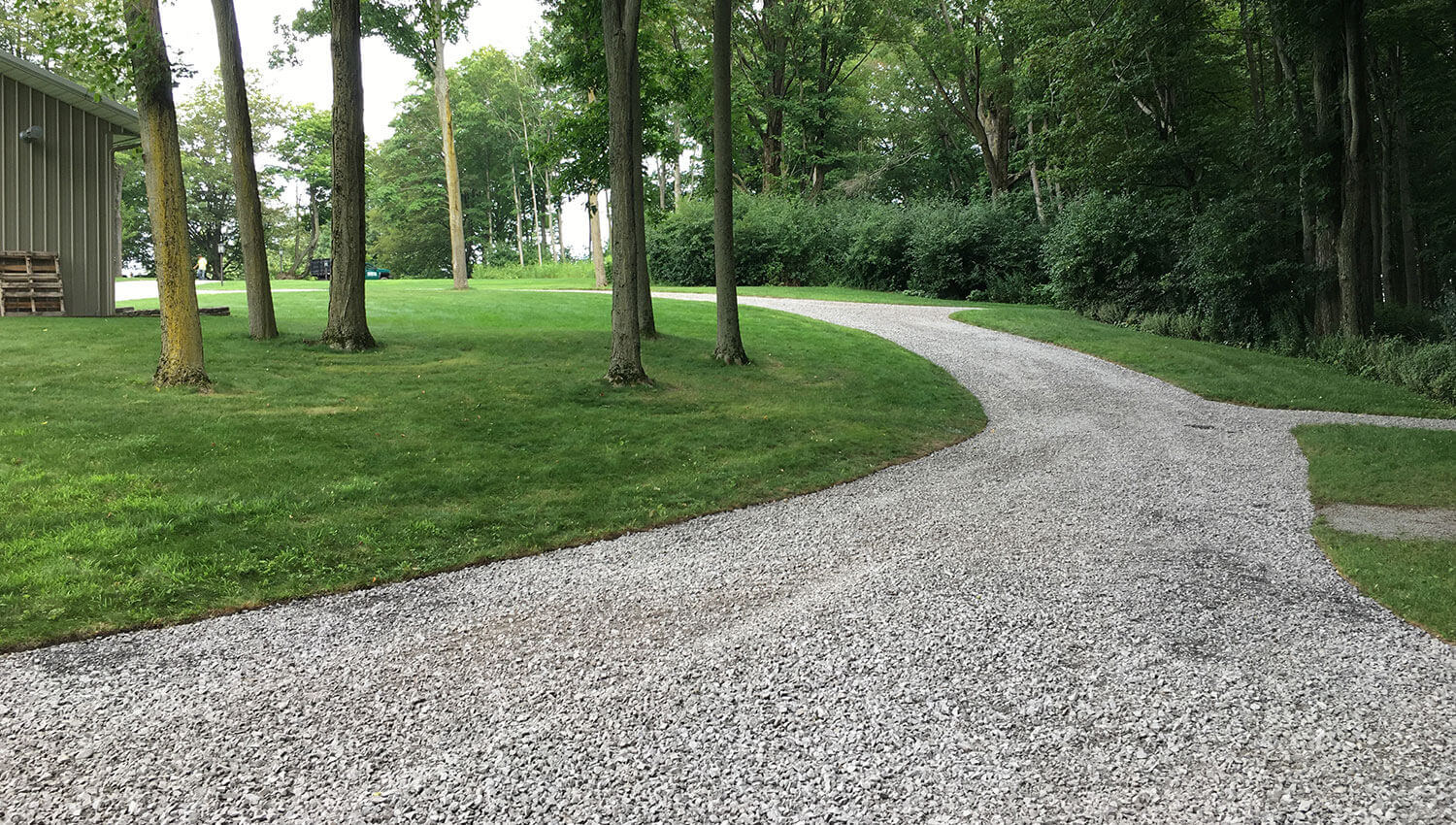 A drainage and grading installation at a Central New York Home