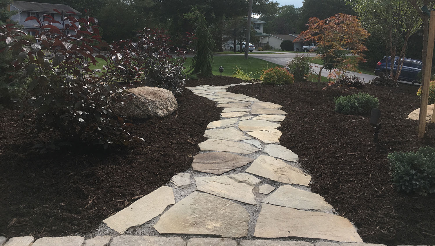 Hardscapes installed at a Central New York Home