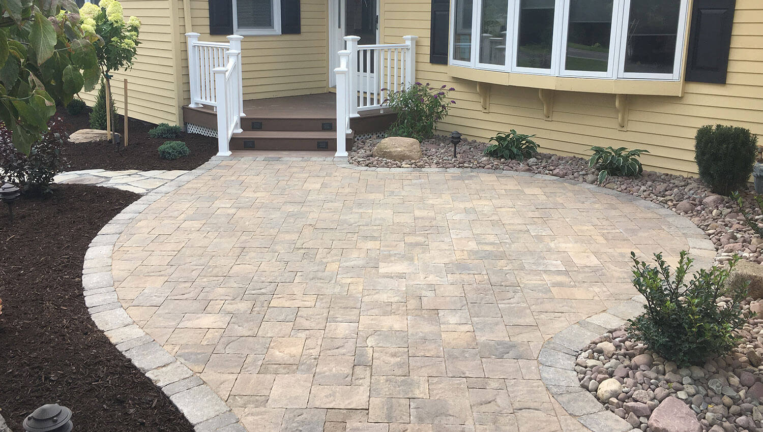 A sturdy and beautiful hardscape installation at a Central New York home