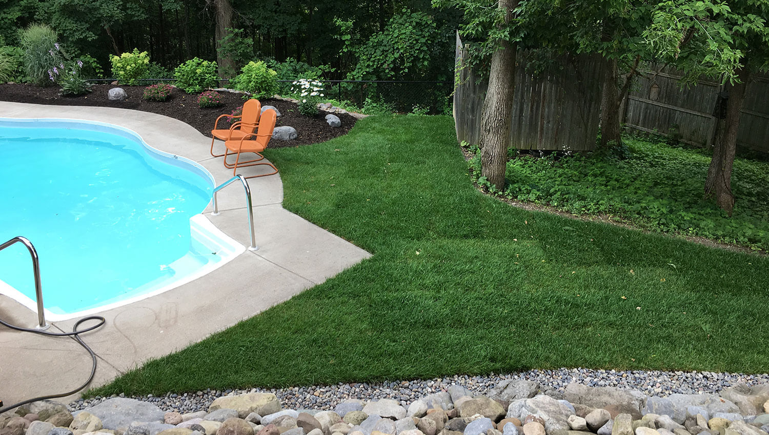 A green lawn installation at a Central New York Home