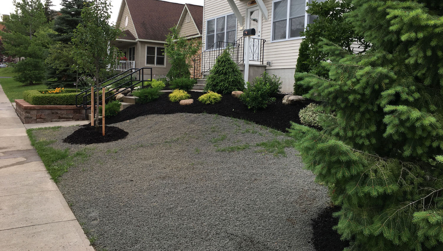 A beautiful lawn installation at a Central New York home