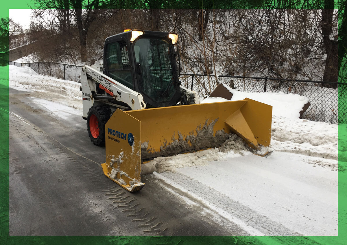 Snow and Ice removal at an Upstate New York Business