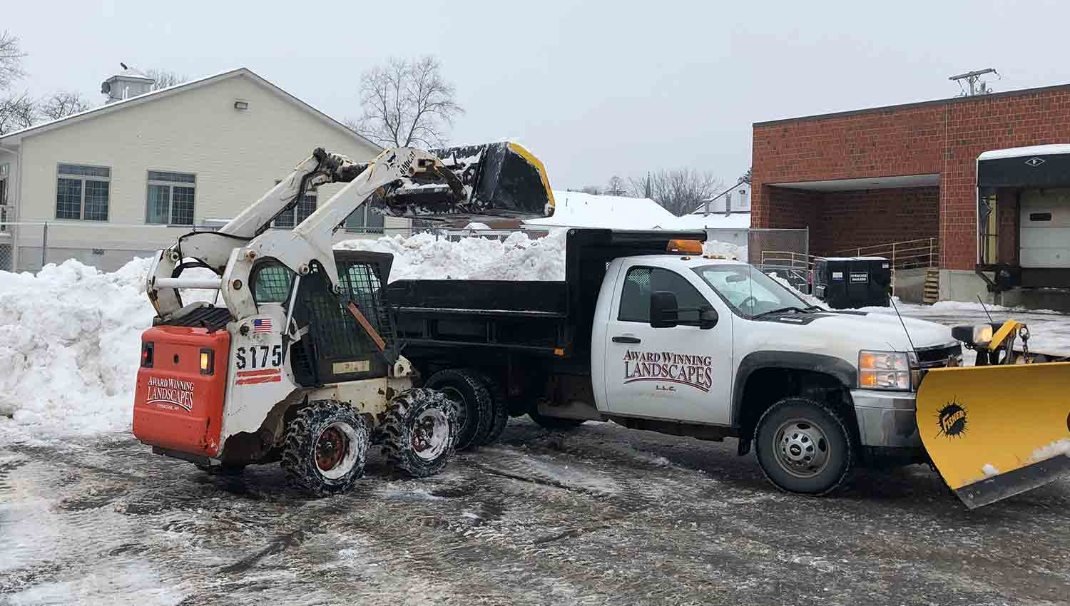 Snow removal at a Syracuse New York Based business